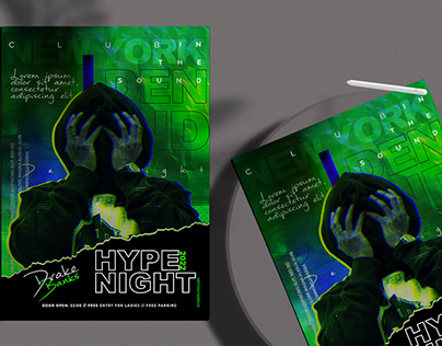 Hype Night Flyer Free PSD Template