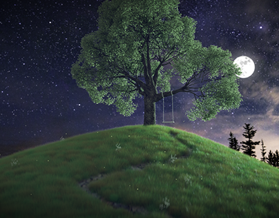 Moon lite tree swing