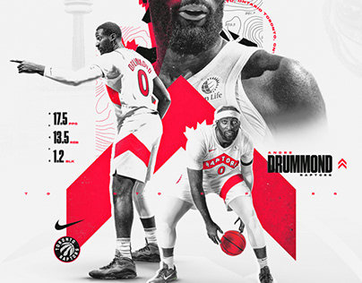 Andre Drummond x Toronto Raptors Graphic