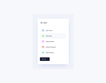 Day 1028 • Users List UI Design