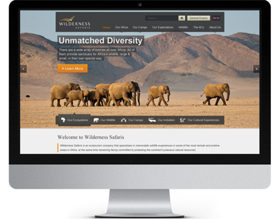 Wilderness Safaris Full Website Design