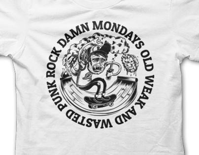 Damn Mondays Shirt Design