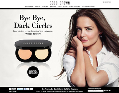 Bobbi Brown site redesign project
