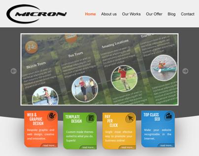 Omicron.ie web design