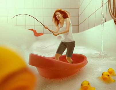 Bathtub Fishing