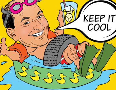 ADVERTISING CAMPAIGN: Car-X caricatures & illustrations