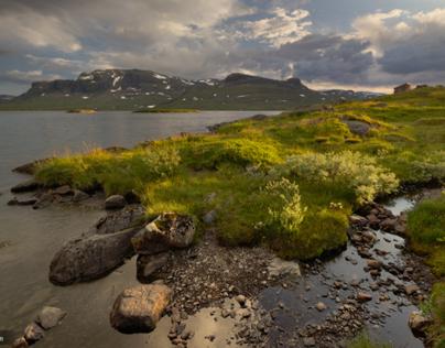 sunset in Hardangervidda