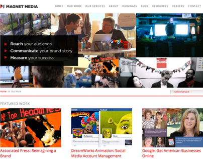 Magnet Media Work Page Layout