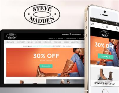 Redesign concept Steve Madden Responsive Website