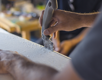 Woodin Surfboards Logo Design & Lifestyle Photography