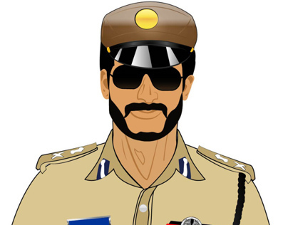 Police Man Character