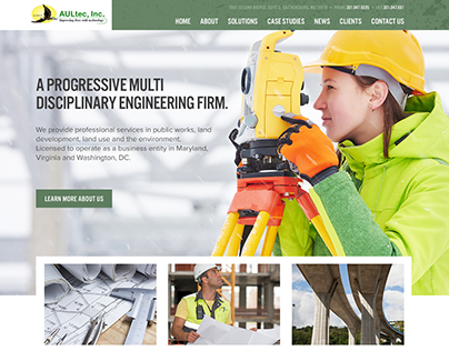 AULtec Responsive Website Redesign & Development