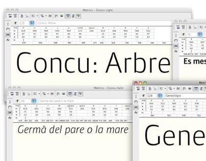 Tipografía Concu