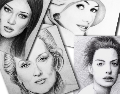 Pencil Portraits Celebrities 2