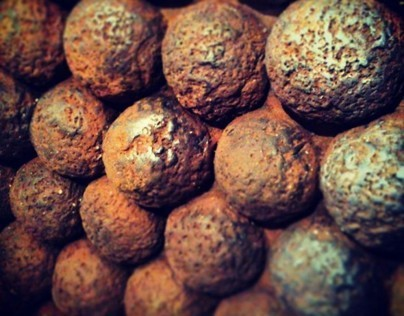 Old cannonballs