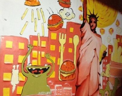 Burger Company PH's Wall Mural