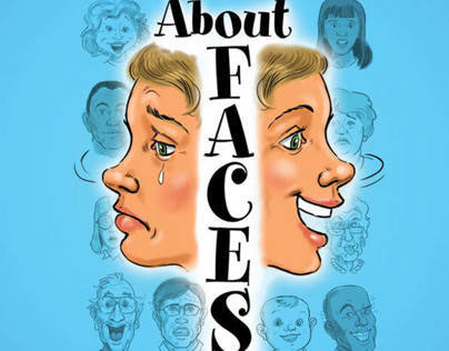 About Faces Workbook - illustrations, layout and design