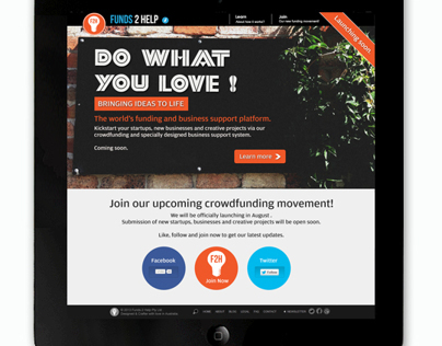 Funds 2 Help - Pre-Launch Website