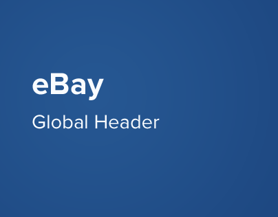 eBay Global Header