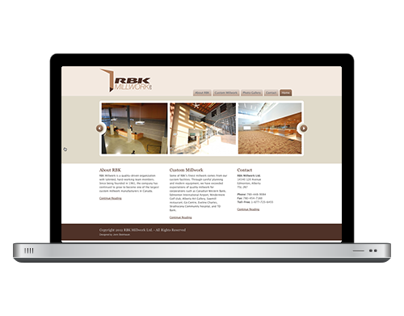 RBK Millwork Website