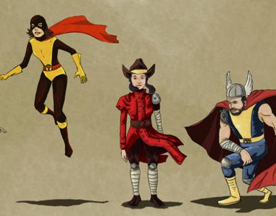 Super hero commissions.