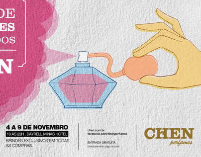 Advertising for Chen Perfumes Importados