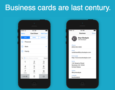 Card Share: Lightning Fast Contact Sharing