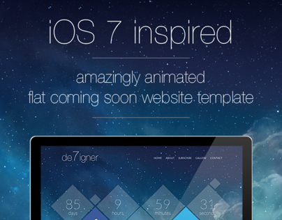 De7igner - Flat iOS7 Inspired Coming Soon Template