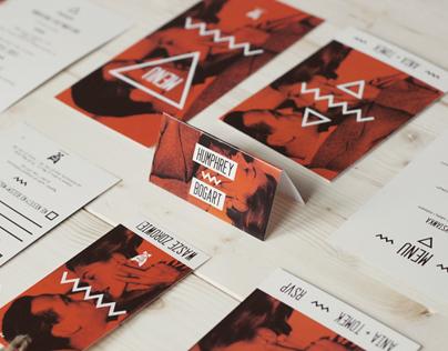 """Wedding Stationery """"Image with Bogart"""" / Red Orange"""