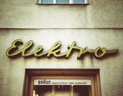 Vintage Vienna Storefront Signage