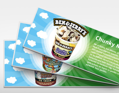 Facebook newsfeed visuals for Ben & Jerry's dealership
