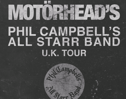 Motorhead Phil Campbell's All Starr Band - Poster