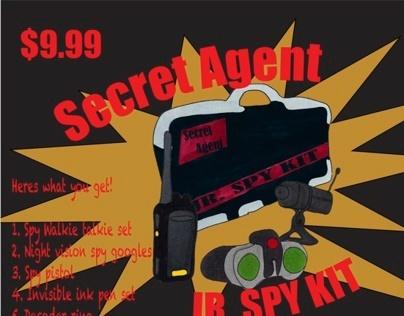 secret agent super spy kit ad on behance. Black Bedroom Furniture Sets. Home Design Ideas
