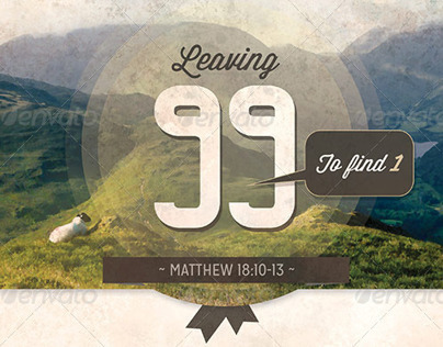 Leaving The 99 Church Flyer Template