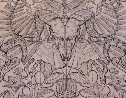 Bare Bones (Tattooed Leather Art)
