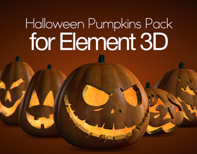 Halloween Pumpkins Pack for Element 3D