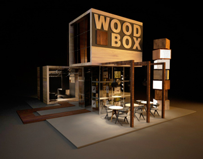 Design Of Exhibition Stand For Quot Wood Box Quot On Behance