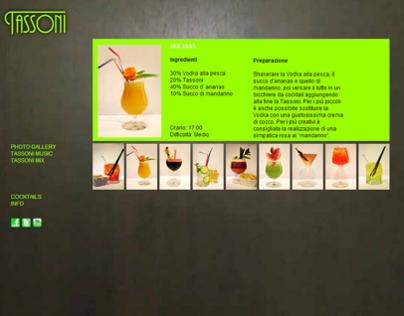 TASSONI · Sito web dedicato al rilancio della bevanda
