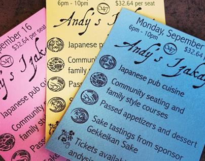 Graphic Design, Marketing: Andy's Izakaya