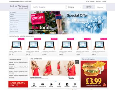 Online E-Commerce Shopping Store UI/UX/Mockup Layout