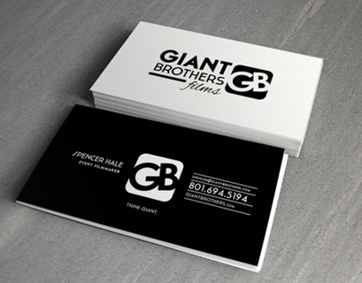 Business Card Design - Giant Brothers Films