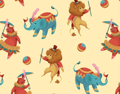 Big Top Fun Patterns and Characters