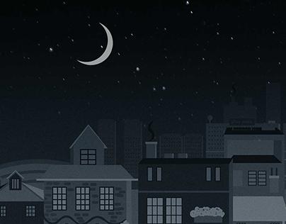Game background illustratopn