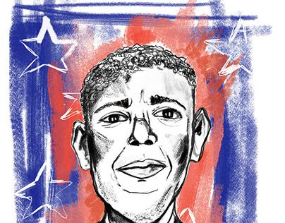 Portrait of Obama by Chiara Agostini