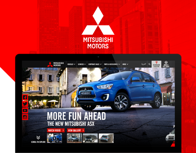 Mitsubishi Motors Web Design