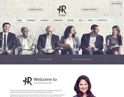 HR Management - Recruitment website template