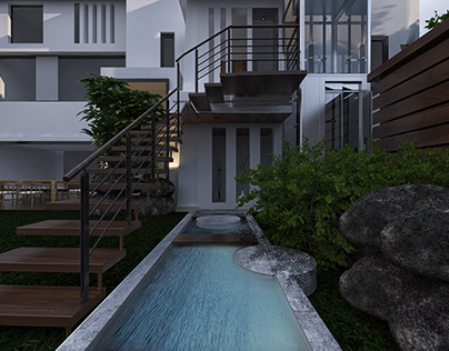 Elevation design/waterfeature/modern/minimalist