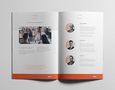 BWA Accountants Client Brochure
