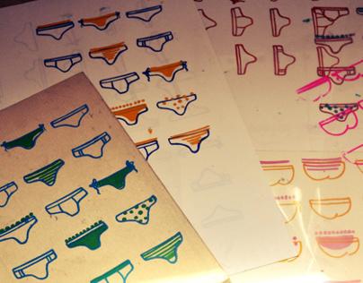 Screen Printing- Underwears