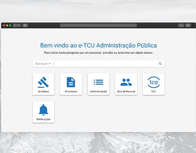 e-TCU Administração Pública - Protótipo